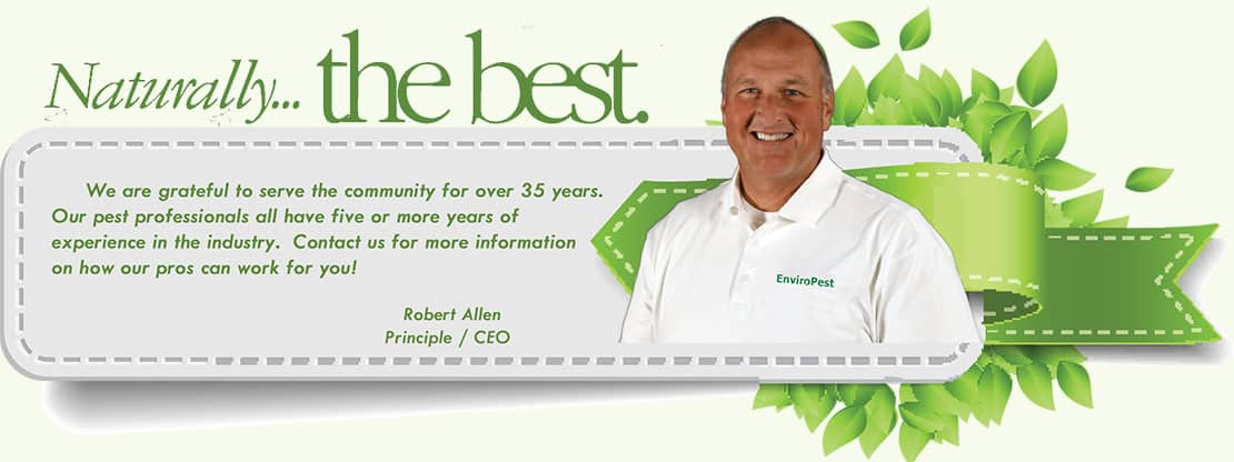 Naturally the best pest professionals - message from the CEO