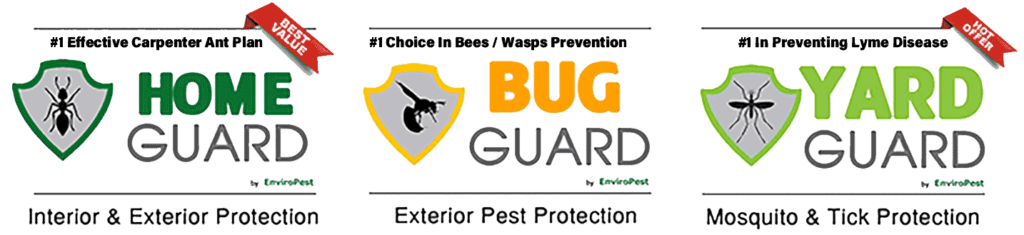 pest service plans from EnviroPest: Home Guard, Bug Guard and Yard Guard