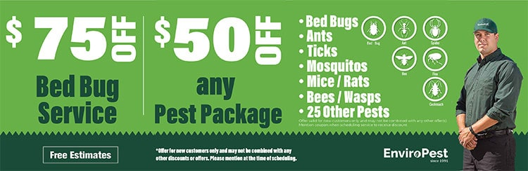 bed bug service and pest package coupons